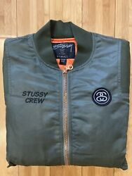Menandrsquos Stussy World Tour 80-14 Bomber Jacket / Stussy Gang / X Small / Green /