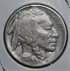 1913-p Type Ii Five Cents Below Line First Year Of Issue Buffalo Nickel