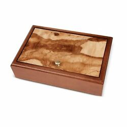 We Games Old World Wooden Box With Brass Knob