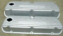 Powered By Ford Finned Aluminum Valve Covers Sbf 260 289 302 5.0 Mustang Nice