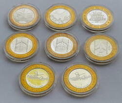 8 Vintage Casino Silver Strike Limited Tokens .999 Fine Silver...had Since 90s
