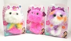 Pomsies Lot Of 3 Zoey - Luna - Kali New Set Light Up Brush 2018 Hot Toy New