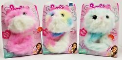 Lot Of 3 Pomsies Pinky Sherbet Snowball New Set Light Up 2018 Hot Toy New