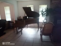 Vintage George Steck Player Baby Grand Piano Dark Espresso Duo Art 100 Years Old