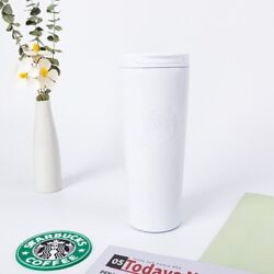 2021 Starbucks Tumler Cold Cup W/ Liddouble Stainless Steel 17ozwhite Bz013