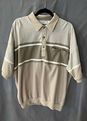 Vintage Classic By Palmland Banded Waist Polo Light Browns Size Xxl