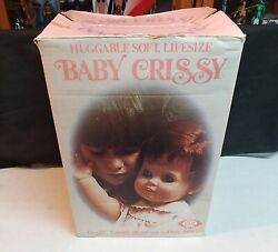 """Ideal 24"""" Baby Crissy Doll, Red Ponytail Grow Hair Soft 1973 In Box Very Nice"""