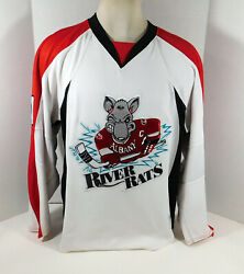 2009-10 Albany River Rats 14 Game Issued White Jersey Nameplate Rem 647