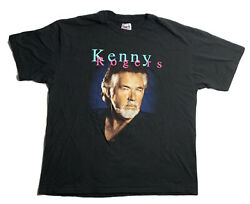Vintage Kenny Rogers T Shirt 90s If Only My Heart Had A Voice Xl Single Stitch