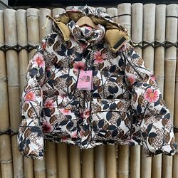 Bnwt X Collection Floral Puffer Down Jacket Medium