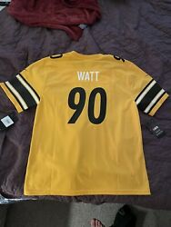 Tj Watt 90 Pittsburgh Steelers Limited Edition Yellow Jersey Size Youth Xl