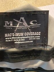 Macs Airplane Cover For Piper Pa28 Cherokee Never Used. Light Gray Color