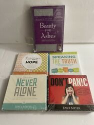 Joyce Meyer Christian Dvd / Cd / Lot 5 Different Ministry Sets New And Sealed.