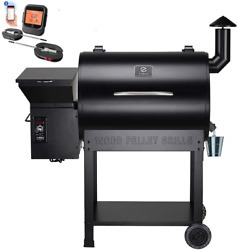 Outdoor Wood Pellet Grill Foldable Bbq Cooking Smoker Picnic Camping Backyard