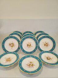 12 Antique Brownfield Aesthetic Dinner Dessert Plates And 3 Tazzas Butterfly