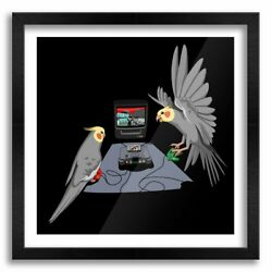 Happiness Goldeneye Cockatiels Posters Or Canvas Print Wooden Frames Wall Art