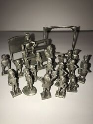 Rare Rawcliffe Pewter Boyd Perry Highway Turtles Baseball 25 Pieces Dated1992
