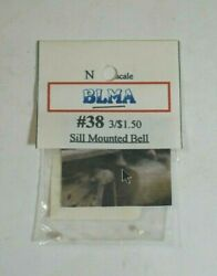 Nos Blma 3 Pack Sill Mounted Bell N Scale Accessories - 38