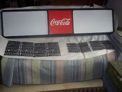 L@@k New 6ft Coca-cola Menu Board Sign W/4 Sets Of Coke Letters And Numbers