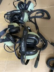 Lot Of 4 David Clark H3441 P/n 40583g-02 Headset - Used Good Condition