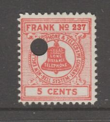 Usa New England Telephone Telegraph Stamp 3-3-21 1938 Punch Cancel