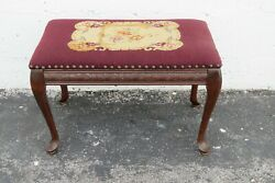 Queen Anne Legs Tapestry Vanity Stool Bench Ottoman 2233
