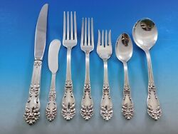 Tiger Lily Festivity By Reed And Barton Silverplate Flatware Set 12 Service 104 Pc