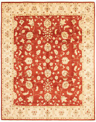 Vintage Hand-knotted Carpet 9and0390 X 11and0394 Traditional Dark Copper Wool Area Rug