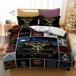 Harry Potter College Bedding Set Duvet Cover and Pillowcase Twin Full Queen King