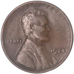 1924 D Lincoln Wheat Cent Fine Penny Fn See Pics G904