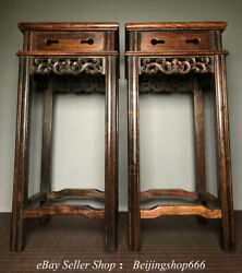 21.4 Collect Old Chinese Huanghuali Wood Dynasty Palace Table Desk Pair