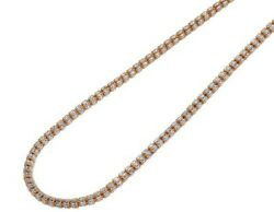 10k Rose White Gold Two Tone Diamond Cut Ice Chain Necklace 4mm 20-30 Inches