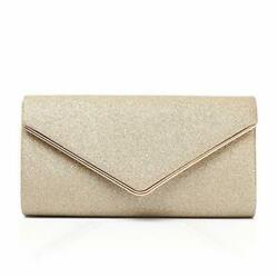 Shining Envelope Clutch Purses for Women Evening Purses and Clutches For Gold $22.77