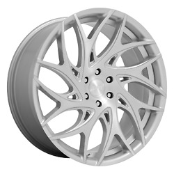 Dub S258 Goat 24x10 +30 Silver Brushed Face Wheel 6x135 Qty 4
