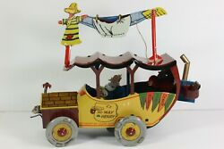 Nifty Hi-way Henry Post 1920s Wind Up Tin Toy Jalopy Comic Remake Nice Works