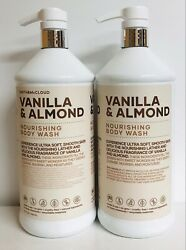 2 Bottles Smith And Mccloud Vanilla And Almond Nourishing Body Wash 32 Fl Oz Each