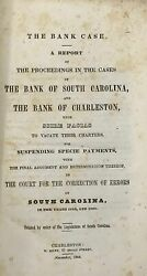 Bank Case Report On The Cases Of The Bank Of South Carolina And The Bank 1844