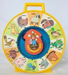 1983 Mattel See N Say And The Farmer Says Animal Sounds Vintage Toy Yellow