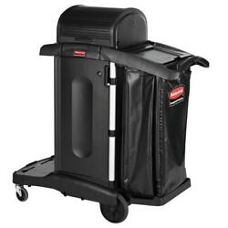 Rubbermaid High Security Housekeeping Cart Cleaning Caddy Commercial Wheels