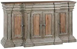 Sideboard Cathedral Reclaimed Wood Heavy Cornice Moldings Linen Fold 4 D