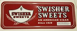 Swisher Sweets An American Cigar Since 1958 9 X 24 Embossed Sign Very Good