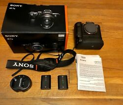 Sony Alpha A7 Iii Camera W Vertical Grip And 2 Sony Batteries