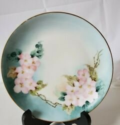 Hutschenreuther Selb Bavaria Signed Handpainted Poppies, Floral Flowers 8 Plate