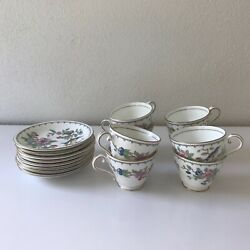 Set Of 8 Aynsley Pembroke Fine Bone China England Cup And Saucer 16 Piece