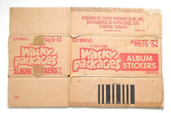 1982 O-pee-chee Opc Wacky Packages Album Stickers Empty Wax Box Case 6676-82