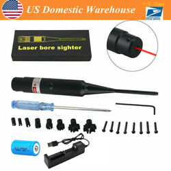 Red/green Laser Bore Sighter Kit .177 To .50 Caliber Li-ion Battery Boresighter