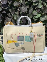 Coach X Jean-michel Basquiat Rogue 39 W/snakeskin Accents Style 6877….sold Out