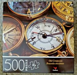 Cardinal 500 Piece Puzzle-old Compasses, New / Sealed