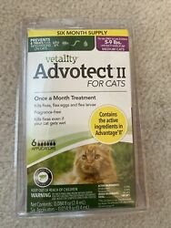 Vetality Advotect ll for medium cats and kittens 5 9 lbs. 6 month dosage $20.00