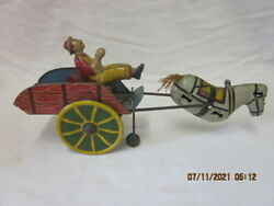Vintage Unique Art Toy Hee Haw Wind Up Tin Toy For Parts Or Restoration
